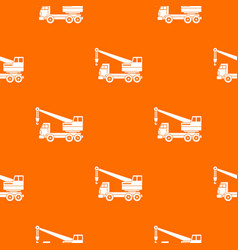 truck crane pattern seamless vector image