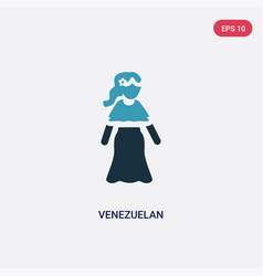Two color venezuelan icon from people concept vector