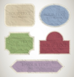 vintage labels paper vector image