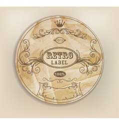 Vintage retro label vector image