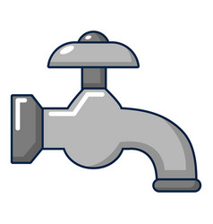 Water tap icon cartoon style vector