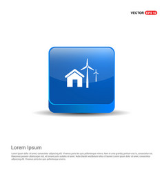 windturbines icon - 3d blue button vector image