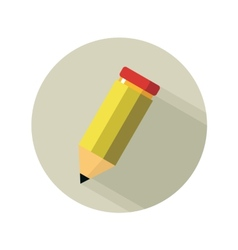 Yellow pencil isolated on white vector