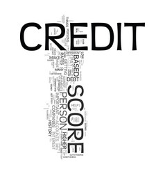 your credit score it is important you understand vector image