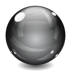 Black sphere vector image