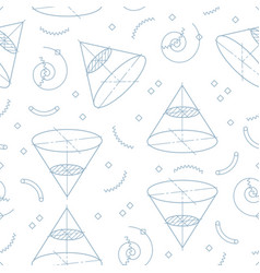 geometric seamless pattern memphis design school vector image