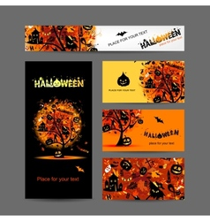 Invitation cards for halloween party for your vector image