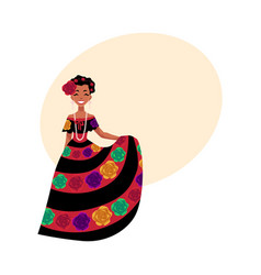 mexican woman in traditional national dress vector image