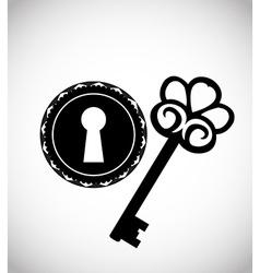 Vintage keys and keyhole vector image vector image