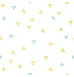 cute triangles repeated background vector image vector image