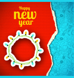 happy new year paper background vector image vector image