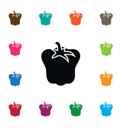 isolated sweet pepper icon bulgarian bell vector image