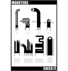 Monster hero vector