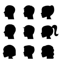 profiles design vector image