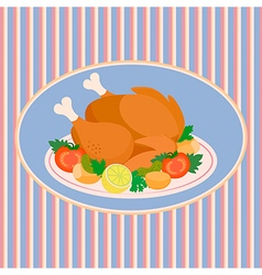 Turkey Thanksgiving Day vector image vector image