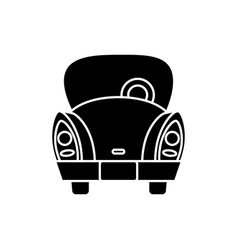 vintage car icon vector image