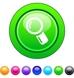 Zoom circle button vector image vector image