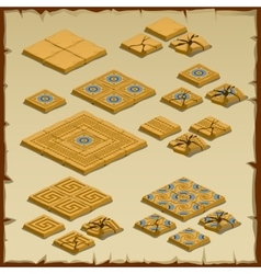 Big set of paving tiles Egyptian theme vector image