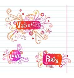 Ornate doodle frames vector image vector image