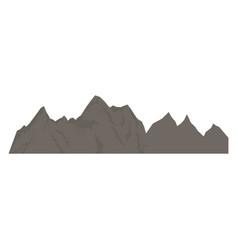 Rock mountain climbing nature silhouette vector