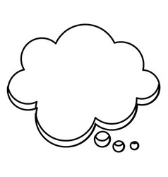 silhouette cloud chat bubble icon vector image vector image
