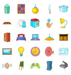 stick icons set cartoon style vector image