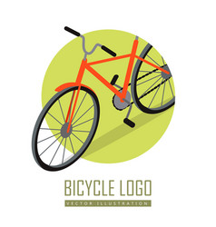 bicycle icon design isolated personal transport vector image vector image