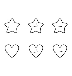 Favorite set icons vector image vector image