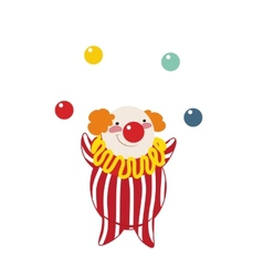 Funny clown on a white background vector
