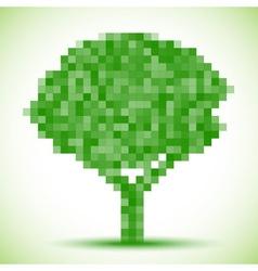 Green pixel tree vector