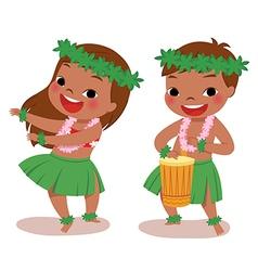 little hula dancers vector image