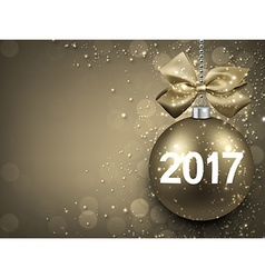 2017 New Year golden background vector