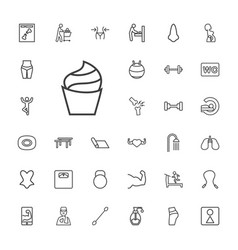 33 body icons vector