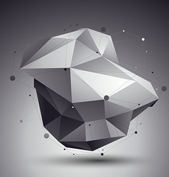 3D abstract design template polygonal complicated vector image