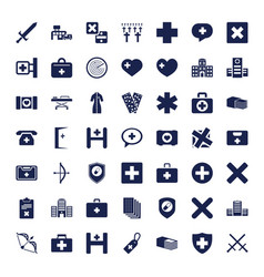 49 cross icons vector