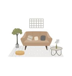 a japandi design interior vector image