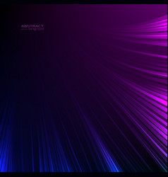 Abstract background neon lights blue purple lines vector