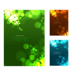 Abstract circular bokeh background vector