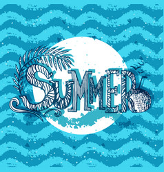 abstract for summer time theme with text vector image