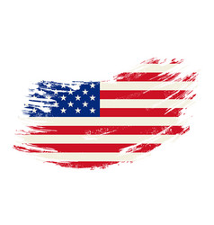 american flag grunge brush background vector image