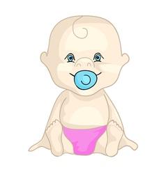 baby in nappy vector image