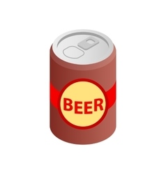 Beer can isometric 3d icon vector