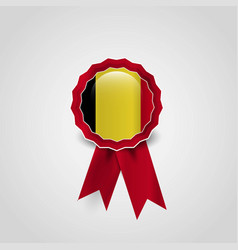 belgium flag badge design vector image