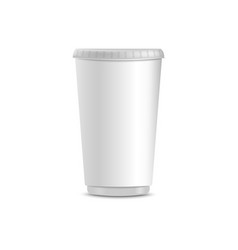 blank white coffee cup realistic mockup vector image