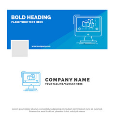 blue business logo template for animation vector image