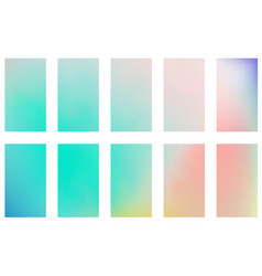 blurred abstract backgrounds set smooth template vector image