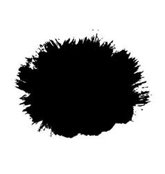 brush stroke isolated white background black vector image