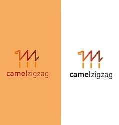 Camel in the form of a zigzag vector