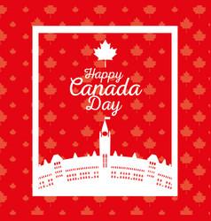Canadian cityscape scene icon vector