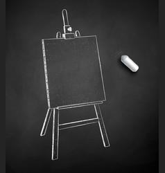 chalk drawn easel vector image